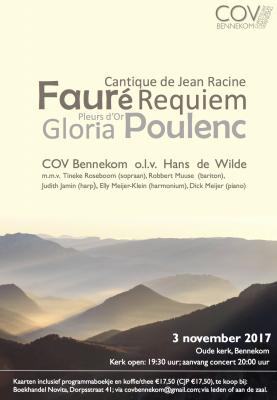Concert COV-Bennekom op vrijdag 3 november