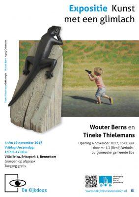 Expositie Kunst met een Glimlach, met Wouter Berns & Tineke Thielemans